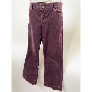 Talbots Plum Velvet Petite Pants
